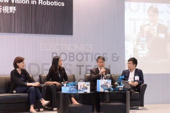 Panelists include EUHK's Dr Gary Wong, Everbest's Sandra Chan and MakerBay's Fiona Ching
